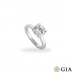 White Gold Round Brilliant Cut Diamond Ring 2.31ct F/VVS2